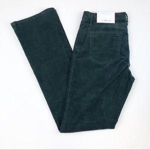 LOFT Size 8 Green Modern Fit Corduroy Pants NWT